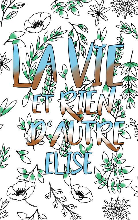 coloriage adulte anti stress personalisé avec prénom Elise idée cadeau meilleure amie
