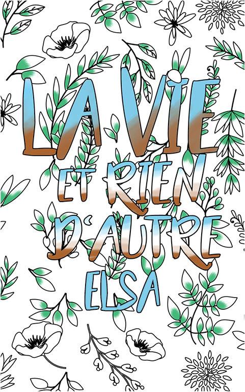 coloriage adulte anti stress personalisé avec prénom Elsa idée cadeau meilleure amie