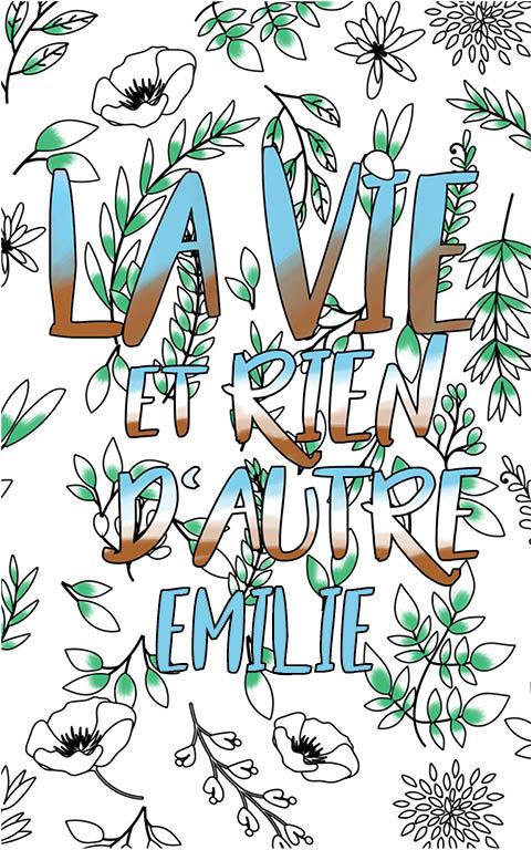 coloriage adulte anti stress personalisé avec prénom Emilie idée cadeau meilleure amie
