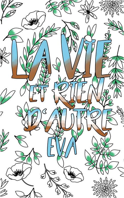coloriage adulte anti stress personalisé avec prénom Eva idée cadeau meilleure amie