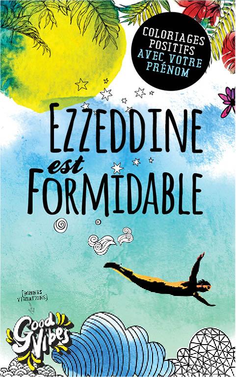 Ezzeddine est formidable livre de coloriage personalisé cadeau pour son meilleur ami ou son père