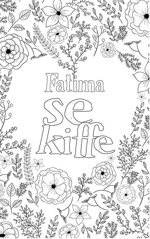 coloriage adulte anti stress personalisé avec prénom Fatima