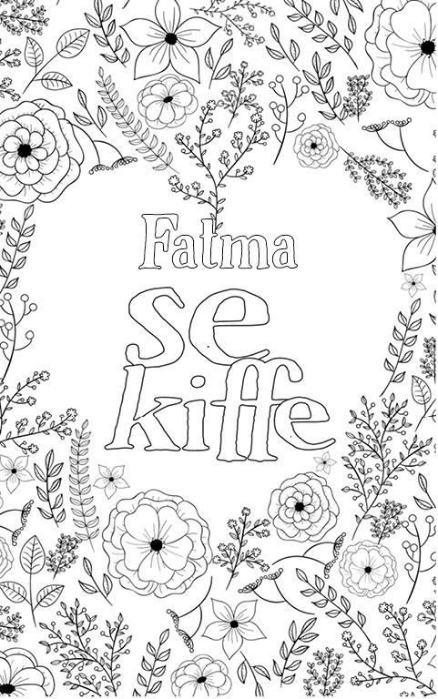 coloriage adulte anti stress personalisé avec prénom Fatma