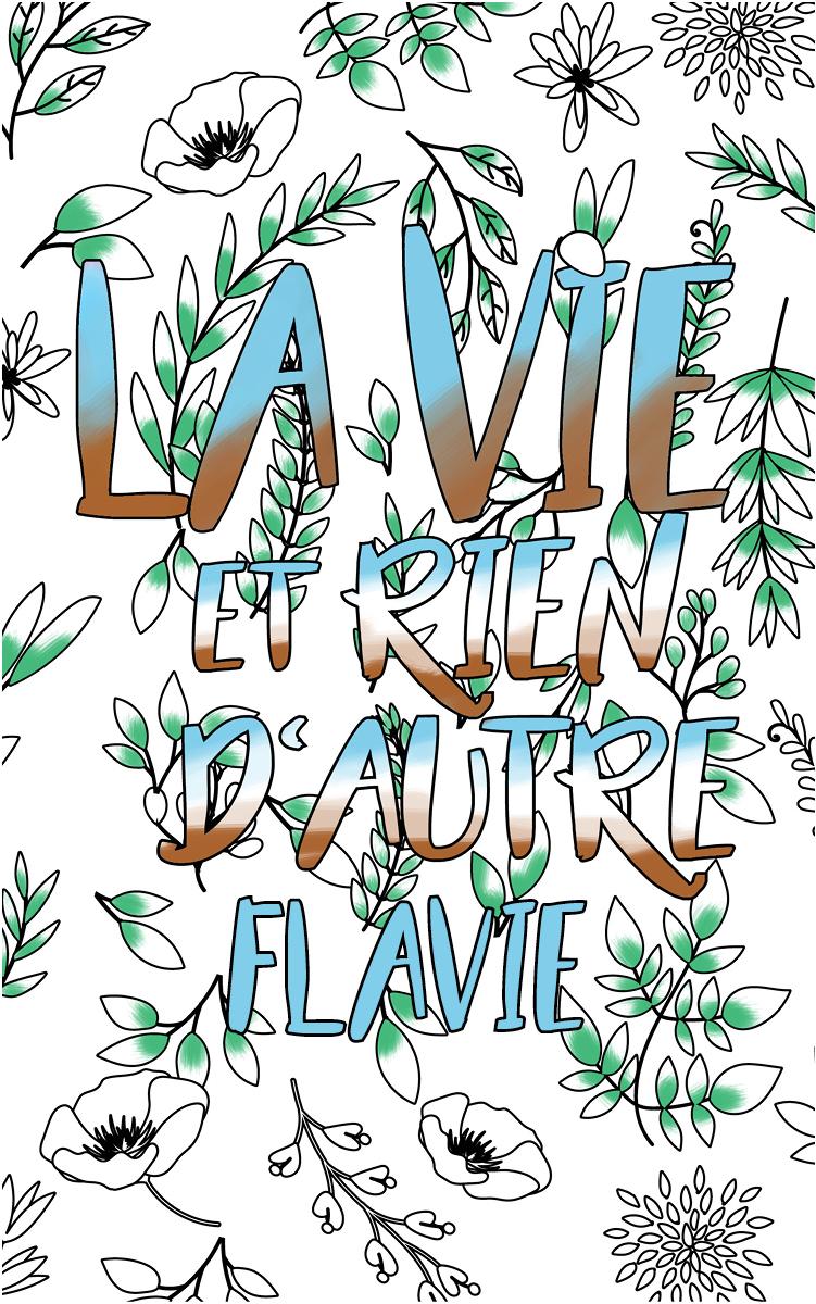 coloriage adulte anti stress personalisé avec prénom Flavie idée cadeau Flavie