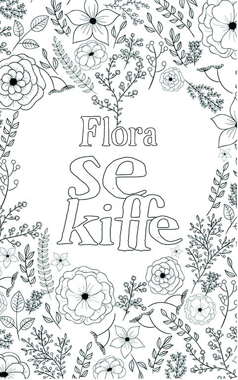 coloriage adulte anti stress personalisé avec prénom Flora