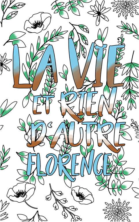 coloriage adulte anti stress personalisé avec prénom Florence idée cadeau meilleure amie