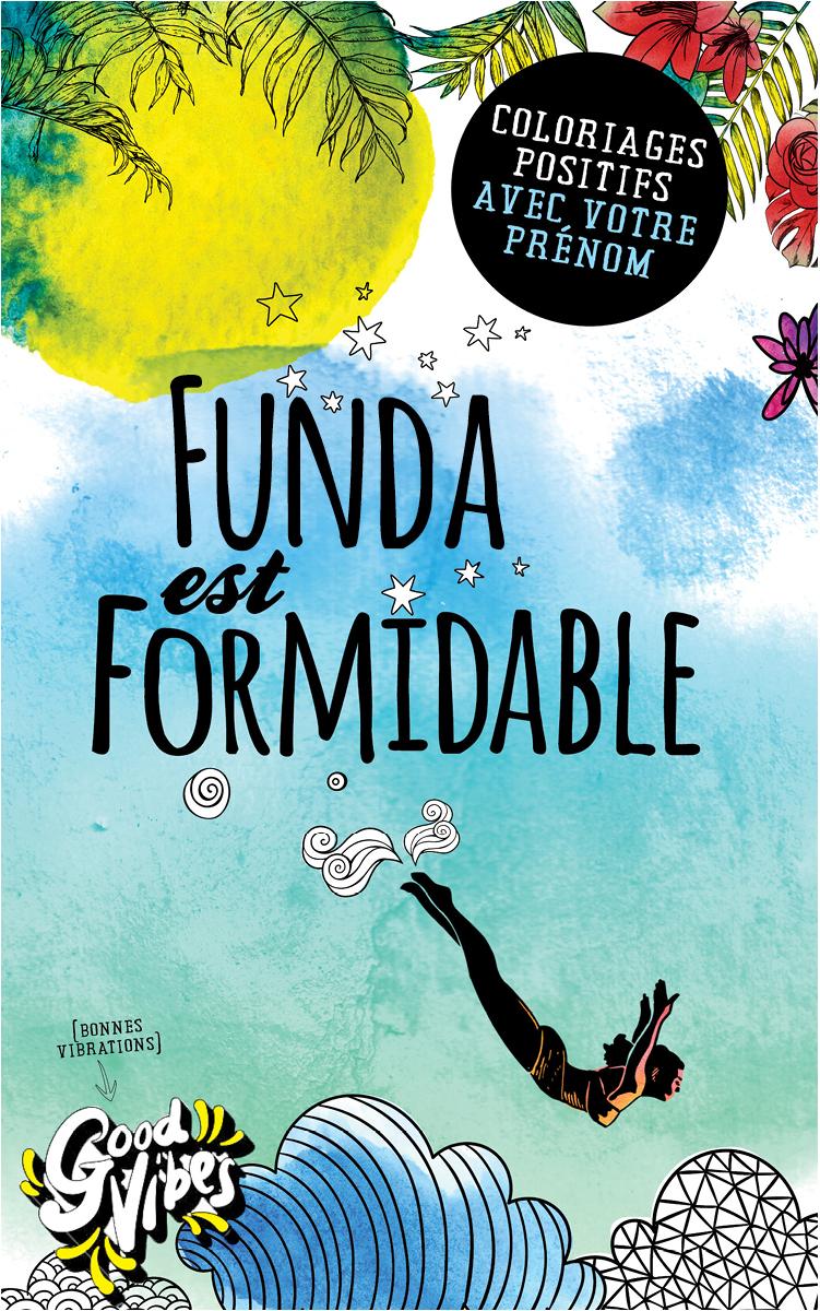 Funda est formidable livre de coloriage personalisé cadeau pour sa meilleure amie ou sa mère