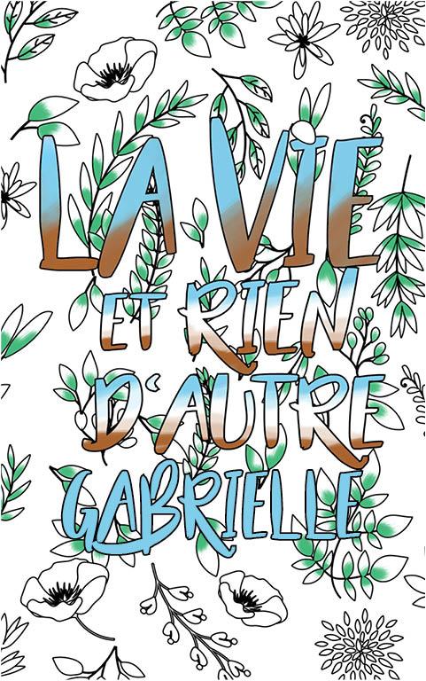 coloriage adulte anti stress personalisé avec prénom Gabrielle idée cadeau meilleure amie