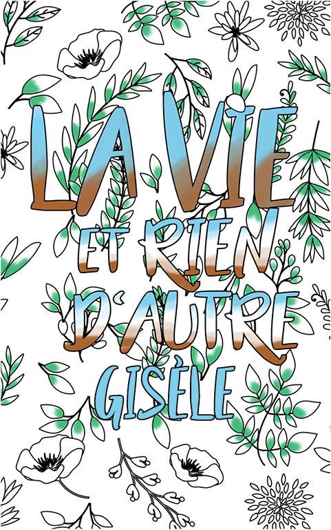 coloriage adulte anti stress personalisé avec prénom Gisèle idée cadeau meilleure amie