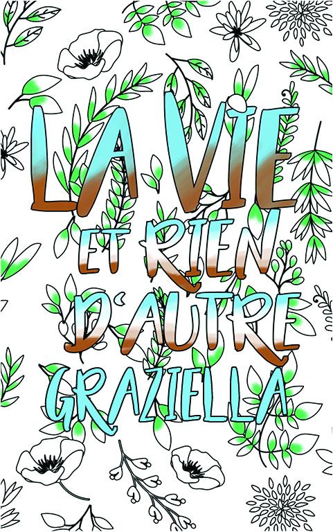 coloriage adulte anti stress personalisé avec prénom Graziella idée cadeau meilleure amie