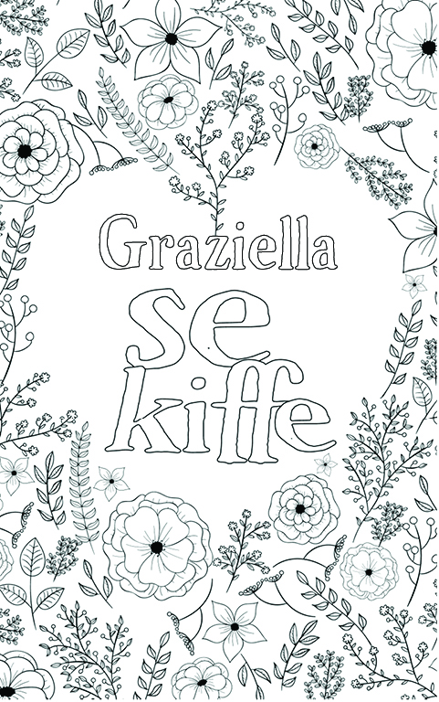 coloriage adulte anti stress personalisé avec prénom Graziella