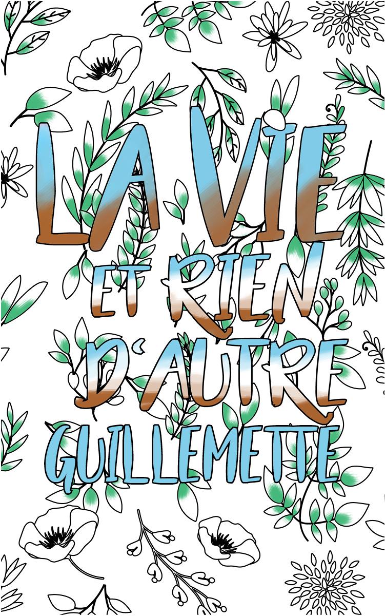 coloriage adulte anti stress personalisé avec prénom Guillemette idée cadeau Guillemette