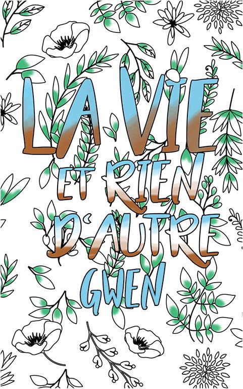 coloriage adulte anti stress personalisé avec prénom Gwen idée cadeau meilleure amie