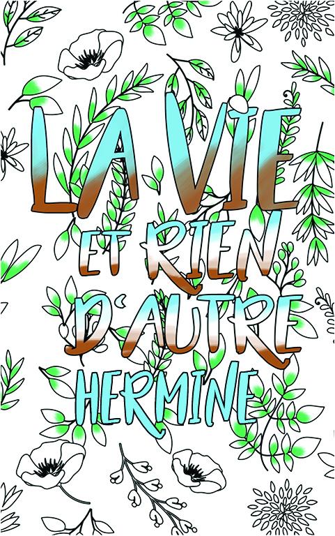 coloriage adulte anti stress personalisé avec prénom Hermine idée cadeau meilleure amie