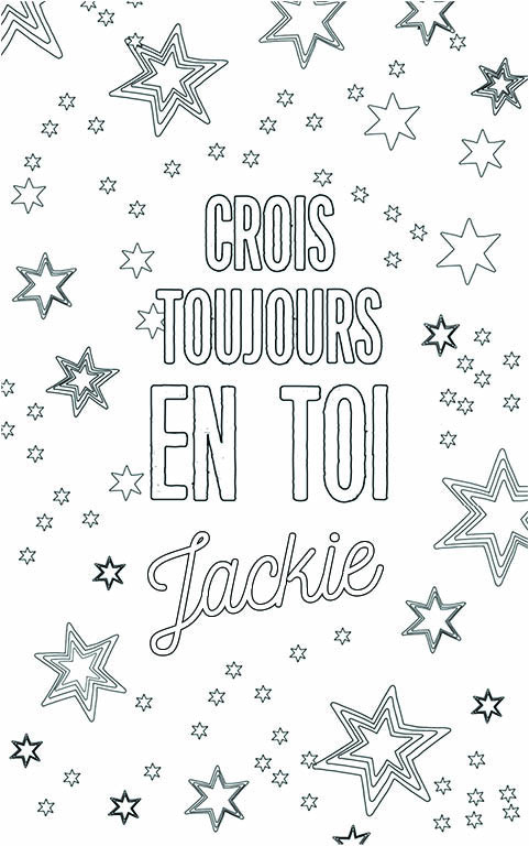 coloriage adulte anti stress personalisé avec prénom Jackie