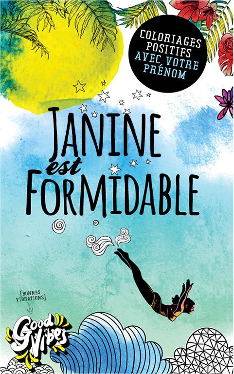 Janine est formidable livre de coloriage personalisé cadeau pour sa meilleure amie ou sa mère