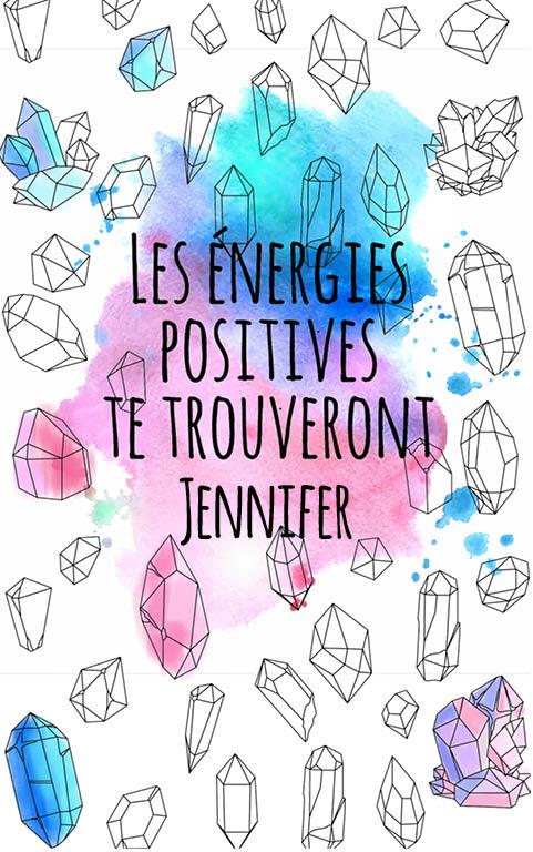 coloriage adulte anti stress personalisé avec prénom Jennifer idée cadeau meilleure amie