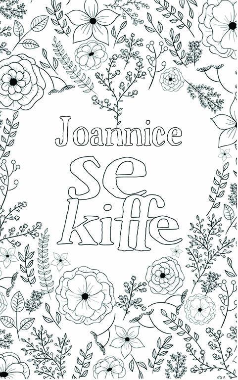 coloriage adulte anti stress personalisé avec prénom Joannice