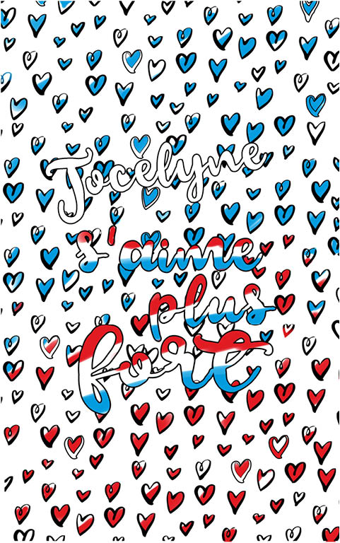 coloriage adulte anti stress personalisé avec prénom Jocelyne idée cadeau meilleure amie