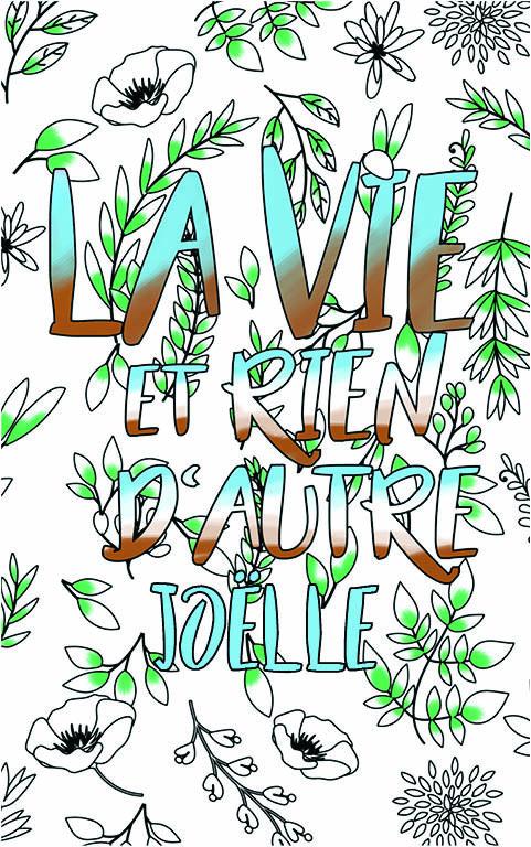 coloriage adulte anti stress personalisé avec prénom Joëlle idée cadeau meilleure amie