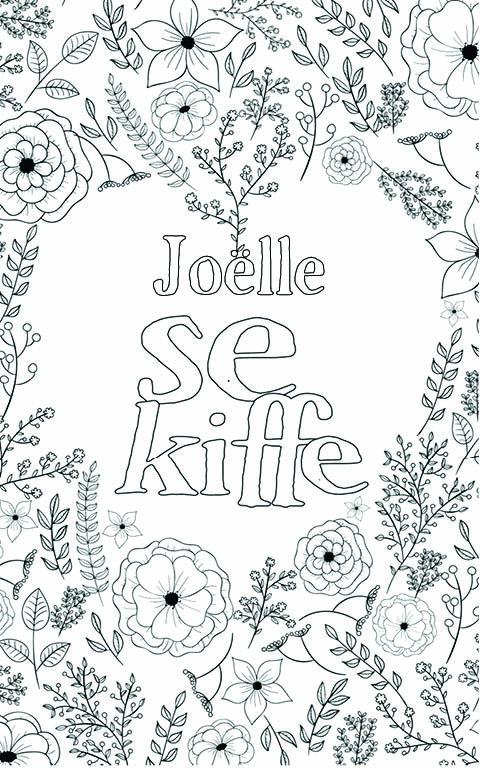 coloriage adulte anti stress personalisé avec prénom Joëlle
