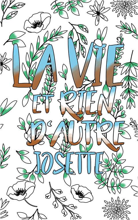 coloriage adulte anti stress personalisé avec prénom Josette idée cadeau meilleure amie