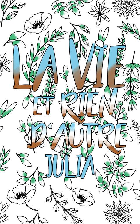 coloriage adulte anti stress personalisé avec prénom Julia idée cadeau meilleure amie