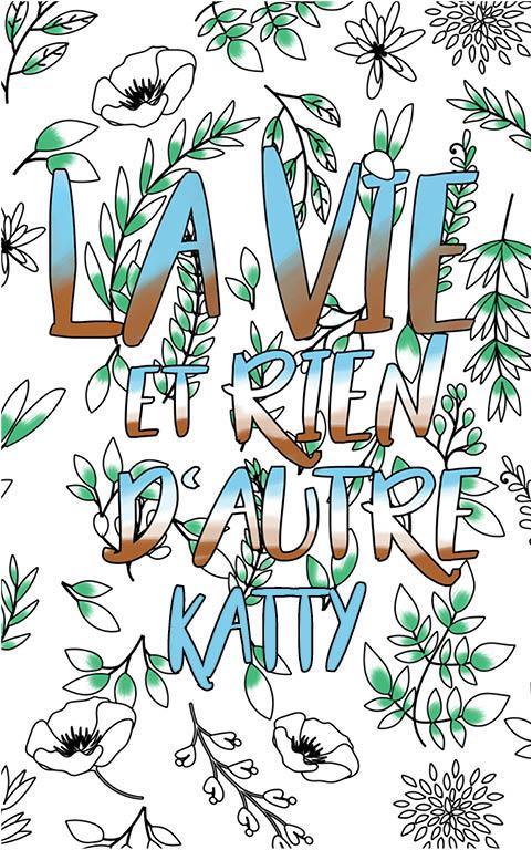 coloriage adulte anti stress personalisé avec prénom Katty idée cadeau meilleure amie