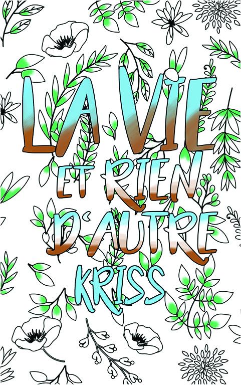 coloriage adulte anti stress personalisé avec prénom Kriss idée cadeau meilleure amie