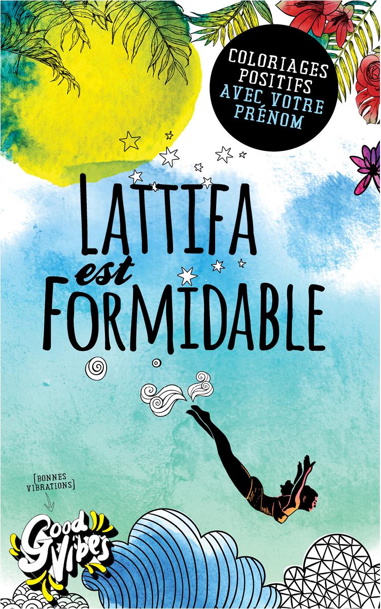 Lattifa est formidable livre de coloriage personalisé cadeau pour sa meilleure amie ou sa mère