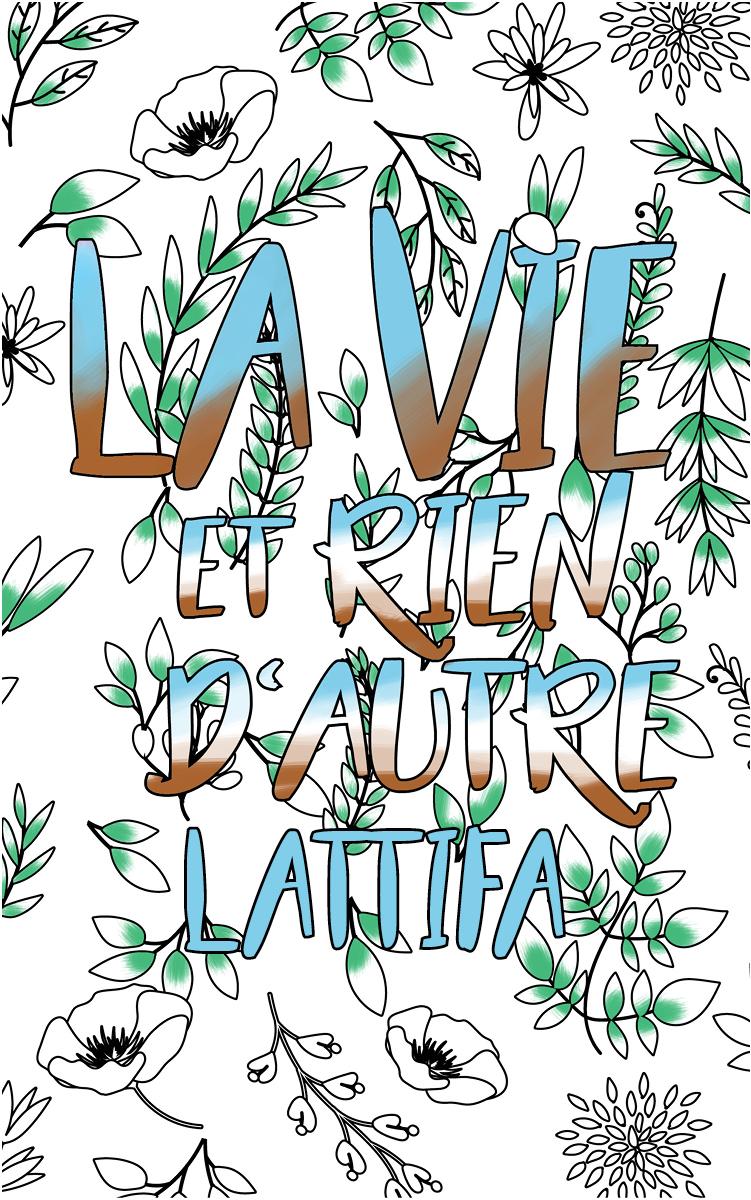 coloriage adulte anti stress personalisé avec prénom Lattifa idée cadeau Lattifa