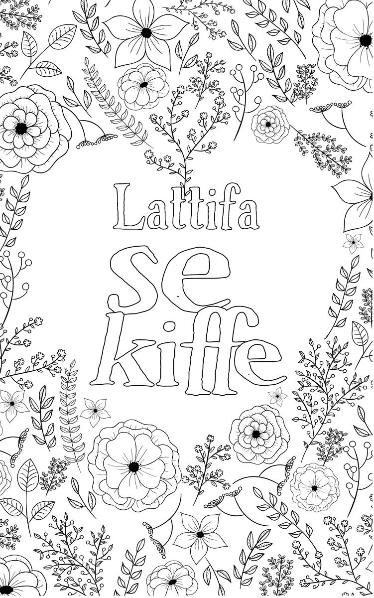 coloriage adulte anti stress personalisé avec prénom Lattifa