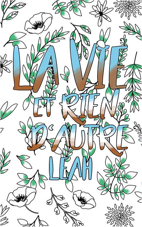 coloriage adulte anti stress personalisé avec prénom Leah idée cadeau meilleure amie