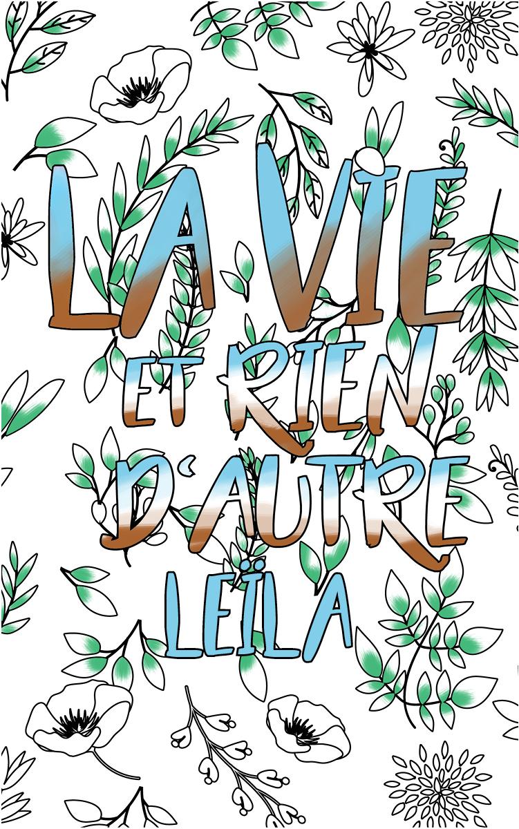 coloriage adulte anti stress personalisé avec prénom Leïla idée cadeau Leïla