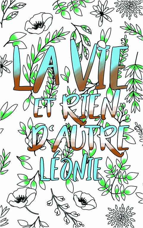 coloriage adulte anti stress personalisé avec prénom Léonie idée cadeau meilleure amie