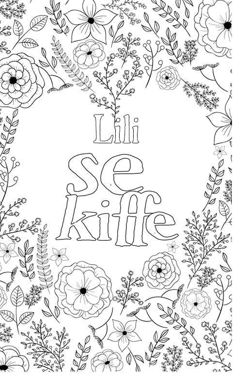 coloriage adulte anti stress personalisé avec prénom Lili