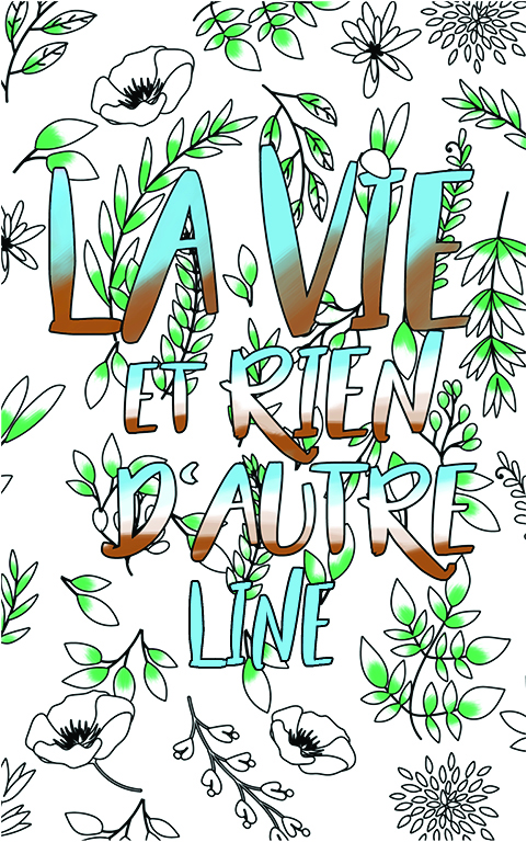 coloriage adulte anti stress personalisé avec prénom Line idée cadeau meilleure amie