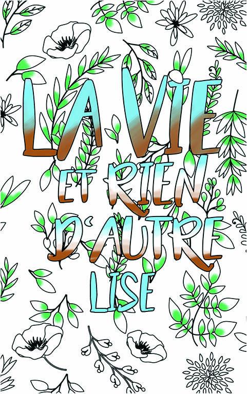 coloriage adulte anti stress personalisé avec prénom Lise idée cadeau meilleure amie
