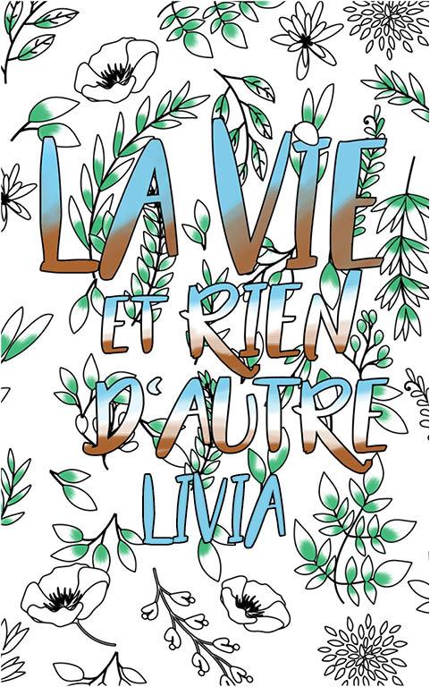 coloriage adulte anti stress personalisé avec prénom Livia idée cadeau meilleure amie