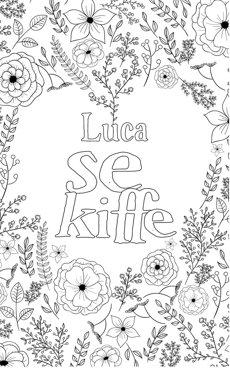 coloriage adulte anti stress personalisé avec prénom Luca