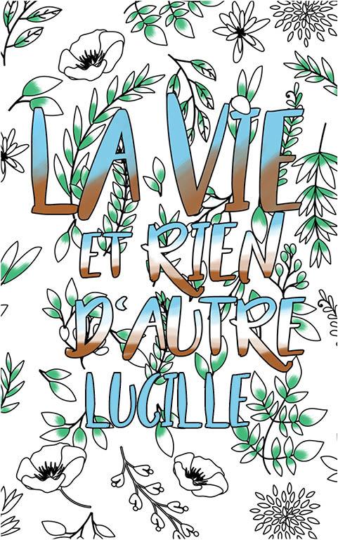 coloriage adulte anti stress personalisé avec prénom Lucille idée cadeau meilleure amie