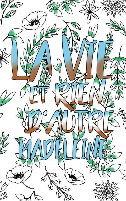 coloriage adulte anti stress personalisé avec prénom Madeleine idée cadeau meilleure amie