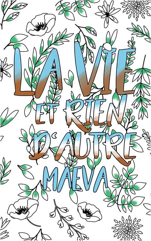 coloriage adulte anti stress personalisé avec prénom Maeva idée cadeau meilleure amie