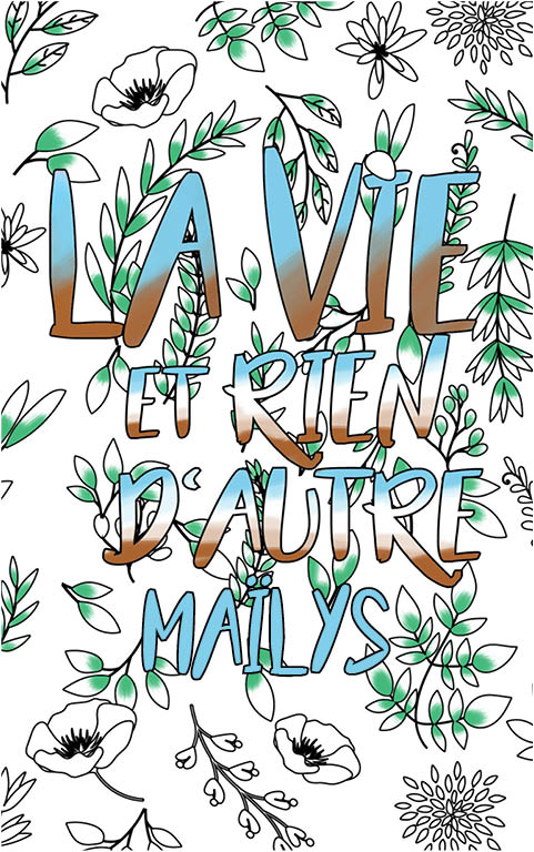 coloriage adulte anti stress personalisé avec prénom Maïlys idée cadeau meilleure amie