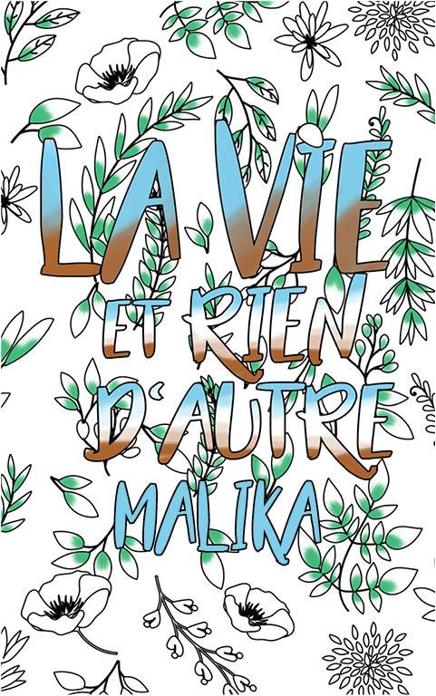 coloriage adulte anti stress personalisé avec prénom Malika idée cadeau meilleure amie