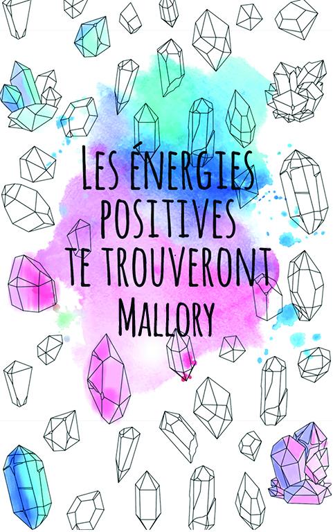 coloriage adulte anti stress personalisé avec prénom Mallory idée cadeau meilleure amie
