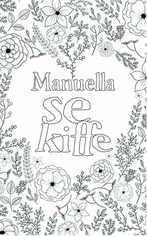 coloriage adulte anti stress personalisé avec prénom Manuella