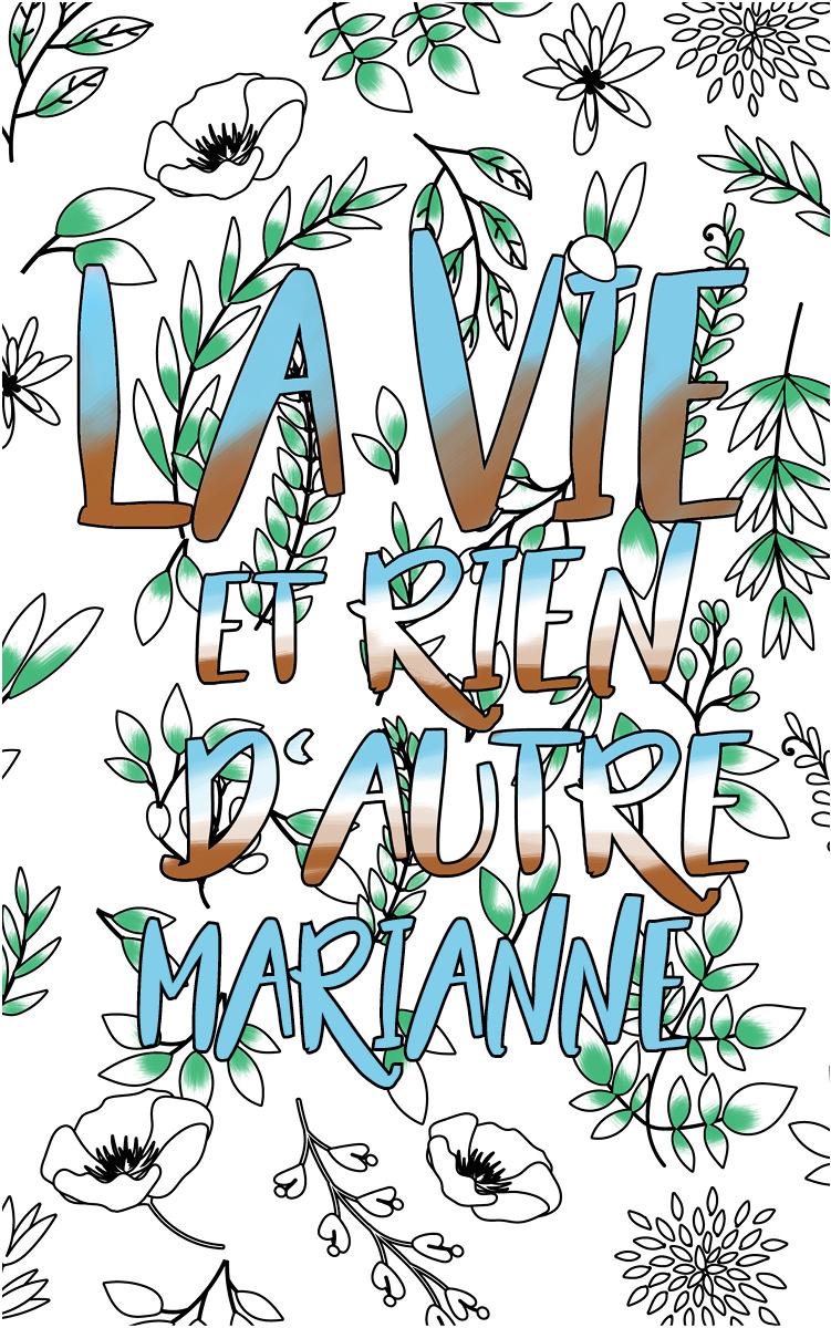 coloriage adulte anti stress personalisé avec prénom Marianne idée cadeau Marianne