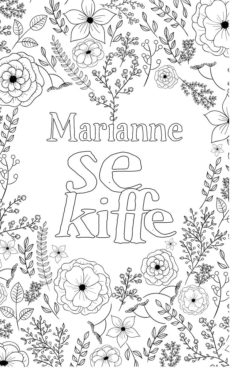 coloriage adulte anti stress personalisé avec prénom Marianne