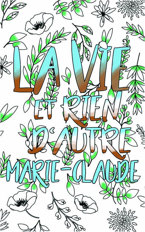 coloriage adulte anti stress personalisé avec prénom Marie-Claude idée cadeau meilleure amie